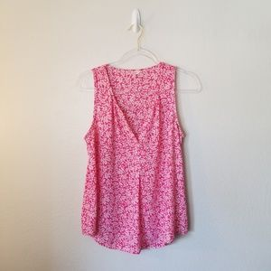 Candie's Pink & White Sleeveless Blouse L